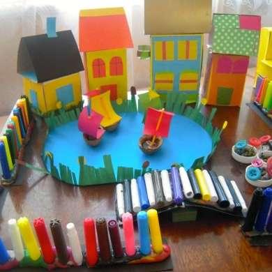 Поделки из бросового материала для детей детского сада